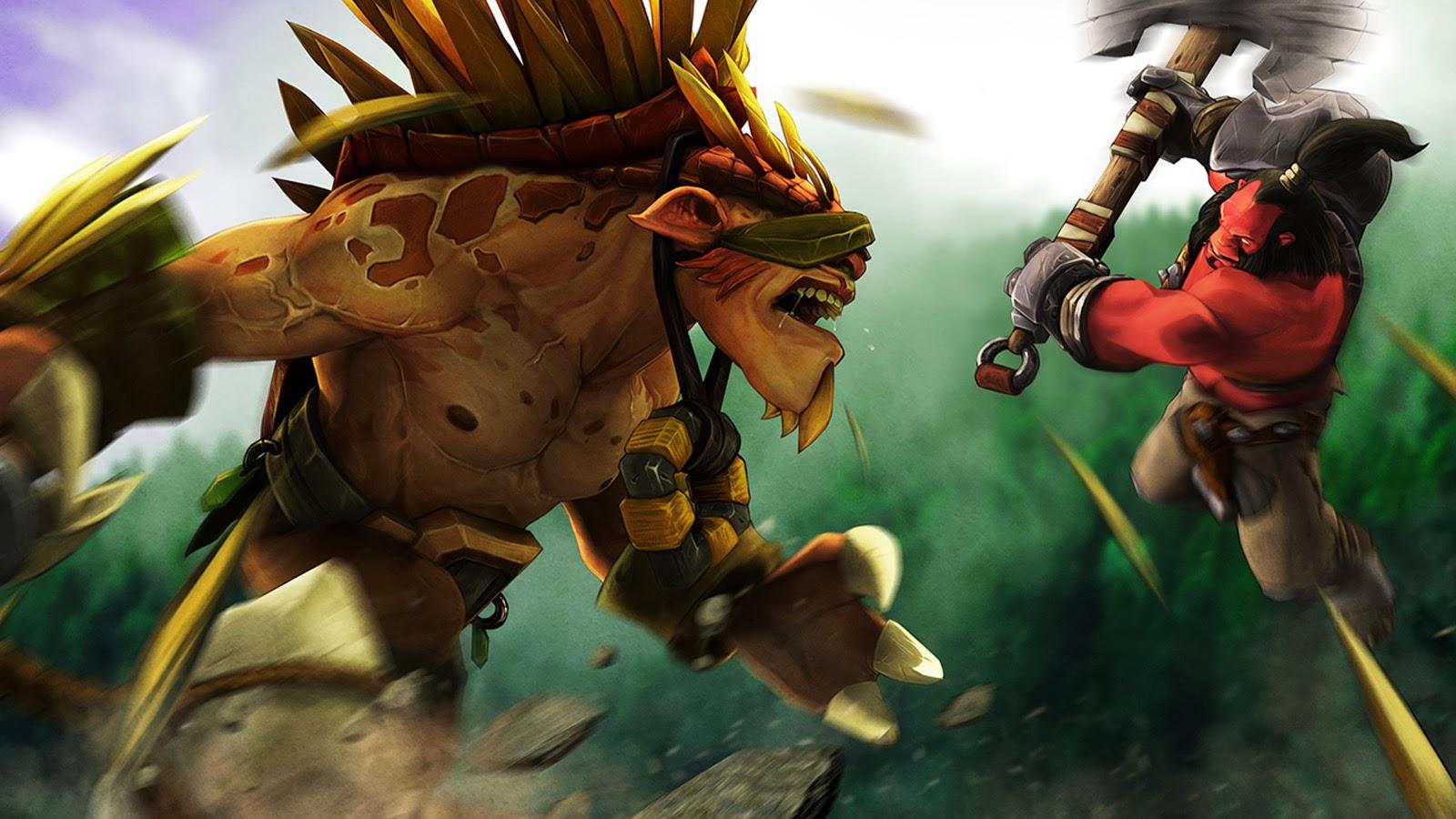 Axe vs Bristleback Dota 2 Hero 1b Wallpaper HD