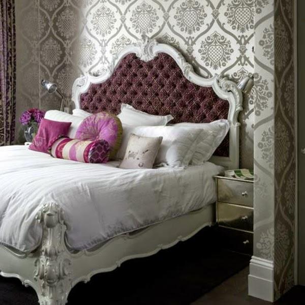 Dormitorios en morado y gris dormitorios colores y estilos for Cortinas gris plata