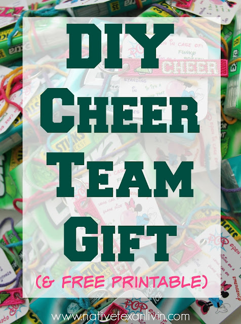 DIY Cheer Team Gift Plus Free Printable