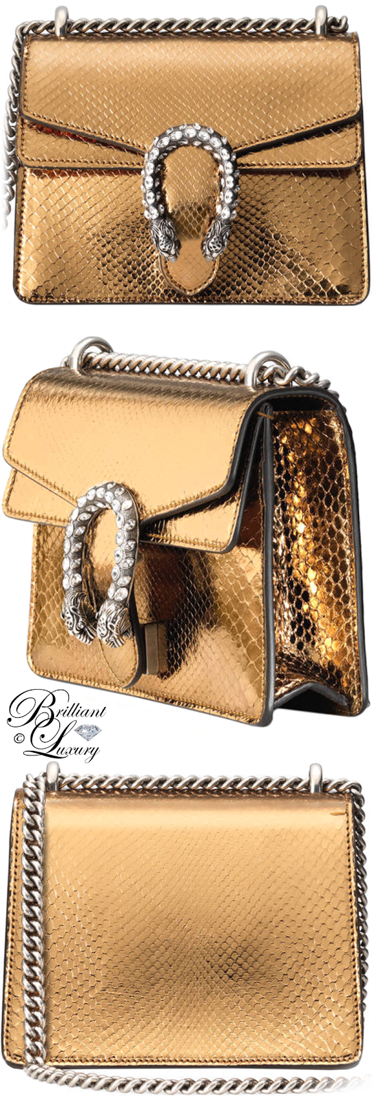 Brilliant Luxury ♦ Gucci Dionysus Python Mini Bag