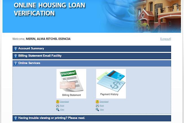 pag-ibig housing loan, check oustanding balance