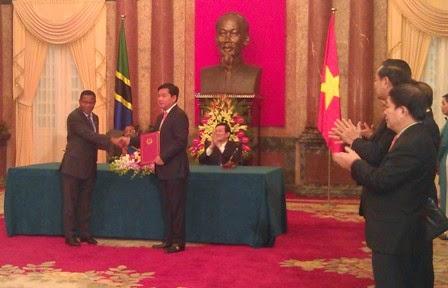 Ký Hiệp định vận tải biển Việt Nam - Tan-da-ni-a