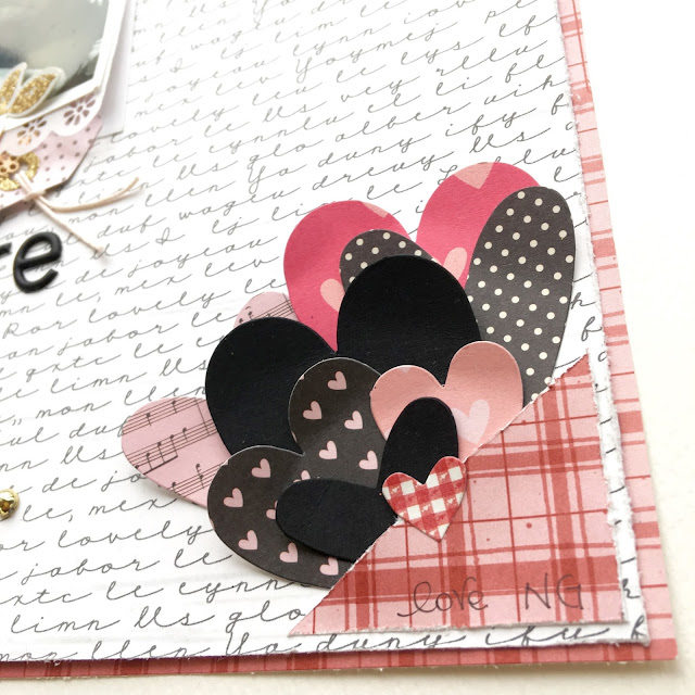 That's Amore Scrapbook Page by Angela Tombari for The Robin's Nest Design Team