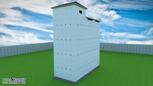Desain Rumah Burung Walet 5X12 4 Lantai