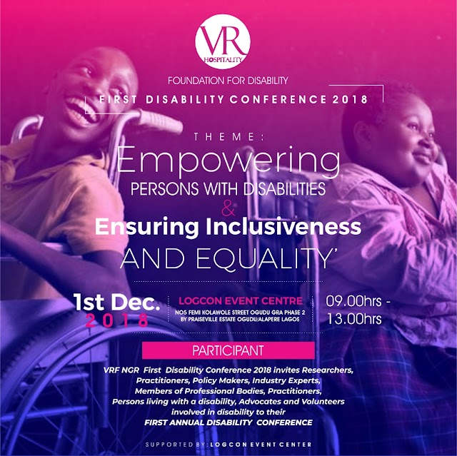 International Day Of Persons Living With Disability 2018: Vickie Robert Foundation Fetes Vulnerable Children
