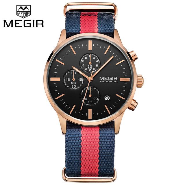 Megir Watch in DW nelon Strap