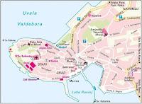 Mapa de Rovinj, Istria, Croacia