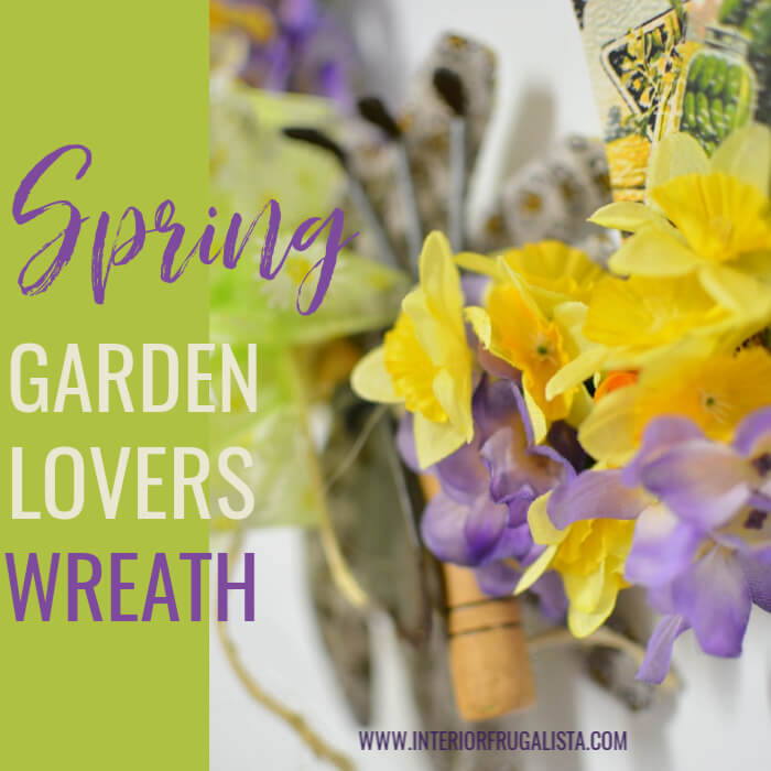 DIY Spring Garden Lovers Wreath