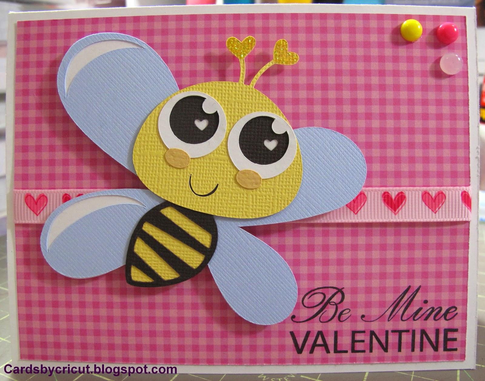Cards By Cricut Bee My Valentine Card