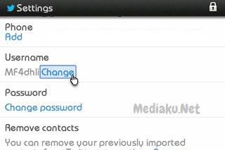 Mengubah Username Twitter Lewat HP