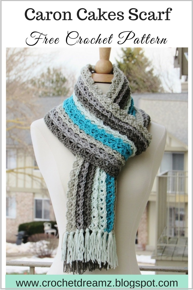 Crochet Patterns For Caron Cakes : ... Ocean Waves Scarf, Free Crochet Scarf Pattern Using Caron Cakes Yarn