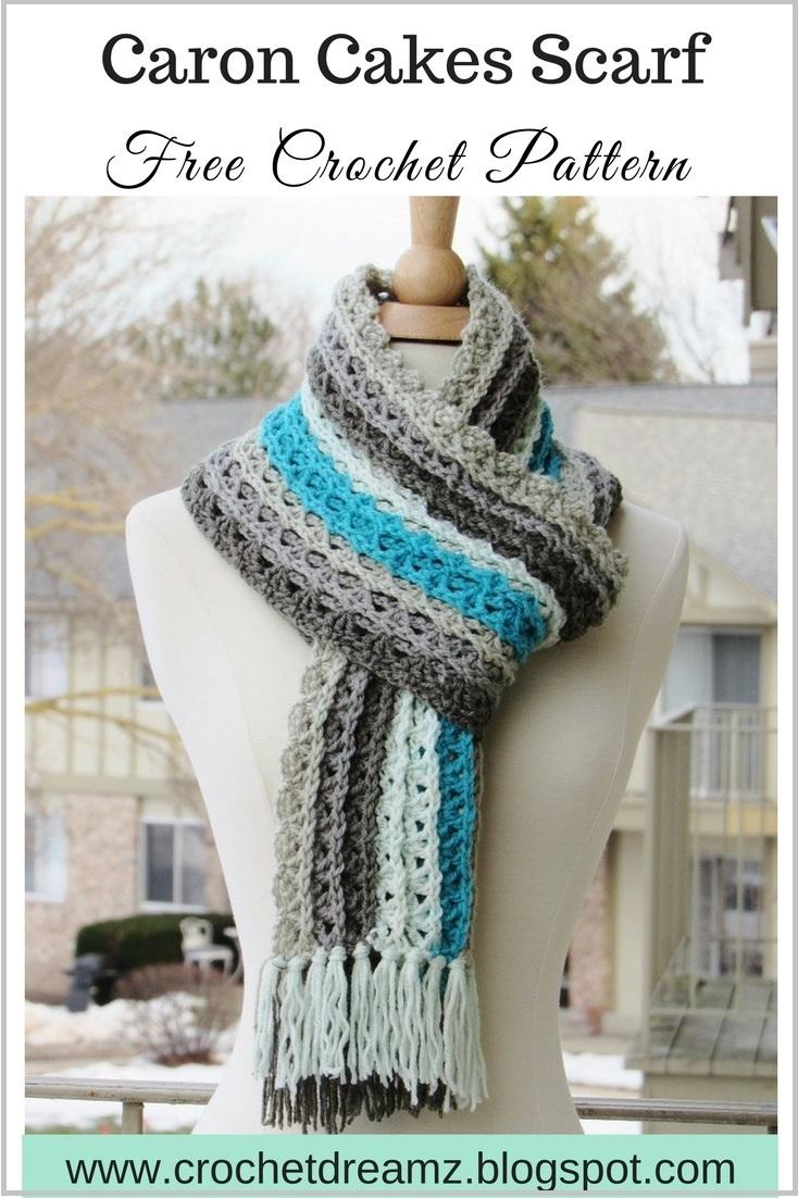 Crochet Dreamz: Ocean Waves Scarf, Free Crochet Scarf ...