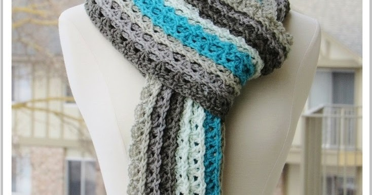... Ocean Waves Scarf, Free Crochet Scarf Pattern Using Caron Cakes Yarn