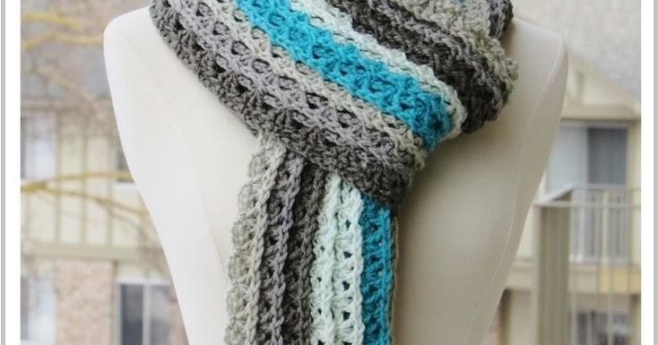 Crochet Patterns Using Caron Cakes : ... Ocean Waves Scarf, Free Crochet Scarf Pattern Using Caron Cakes Yarn