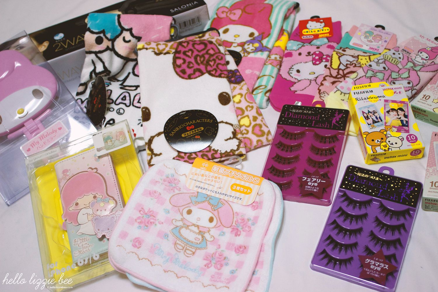 kawaii japan haul, sanrio, donki, false lashes, gyaru