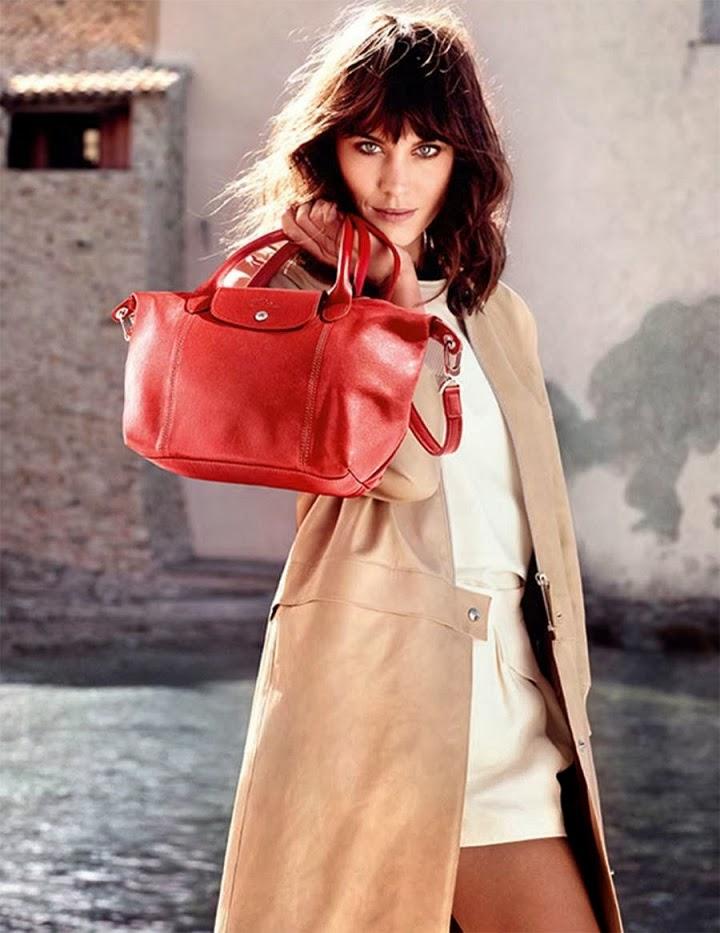 a4b934396be7 Longchamp Spring Summer 2014 Handbags Campaign starring Alexa Chung