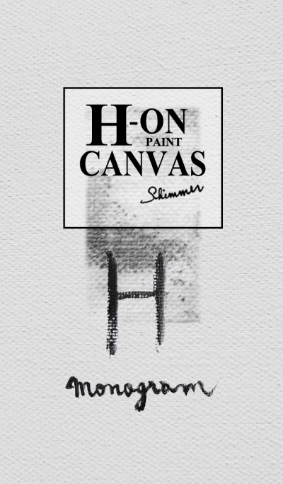 H on Canvas -Paint-