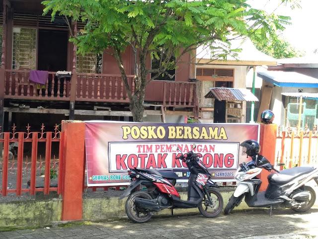 Tanda Demokrasi Hidup di Bone, Sudah Ada Posko Pemenangan Kotak Kosong