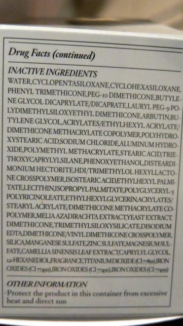 Laneige BB Cushion Pore Control Ingredients