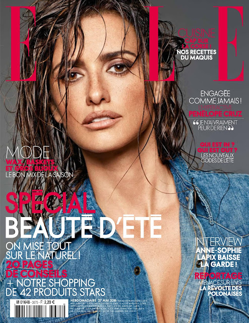 Actress, Model, @ Penelope Cruz - Elle France May 2016