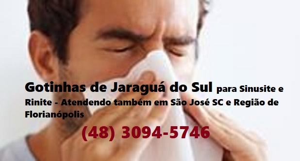 Gotinhas de Jaraguá do Sul para Sinusite e Rinite - Representante Autorizado - Aplicação em São José (SC), Florianópolis e região