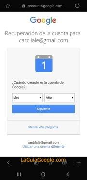 como saber la fecha de creacion de una cuenta de gmail 2019
