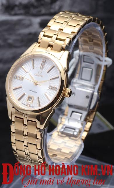 Đồng hồ đeo tay nữ Omega dây inox giá rẻ dưới 2 triệu