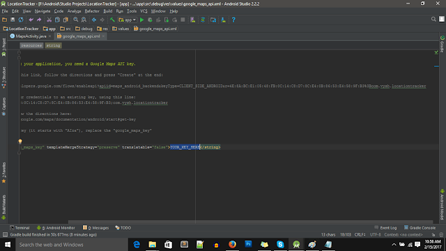 Android Studio Google Maps API Key