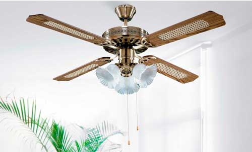 Instalaciones eléctricas residenciales - Ventilador de techo decorativo