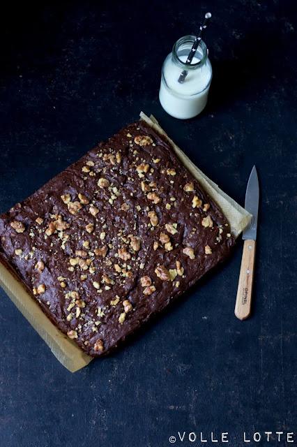 Schokolade, Ritte Sport, Brownies, Milch, backen, Rezepte, Walnüsse