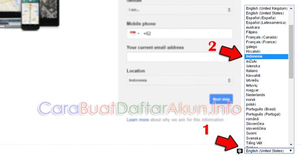cara membuat email di google bahasa indonesia