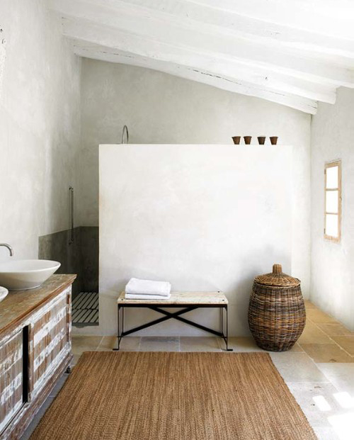 Natural Modern Interiors Eclectic Bathroom Ideas Small