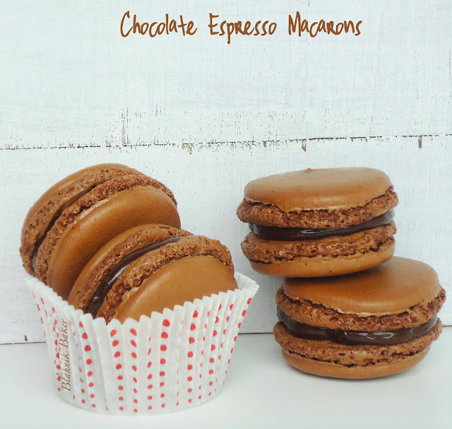 Chocolate Espresso Macarons