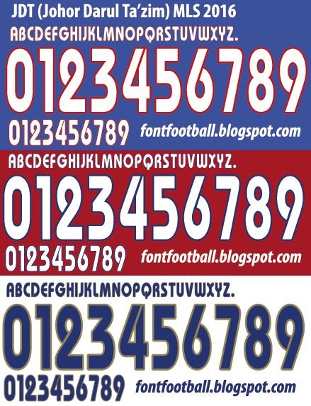 dca876370 FONT FOOTBALL: Font Vector JDT (Johor Darul Ta'zim) MLS 2016 kit