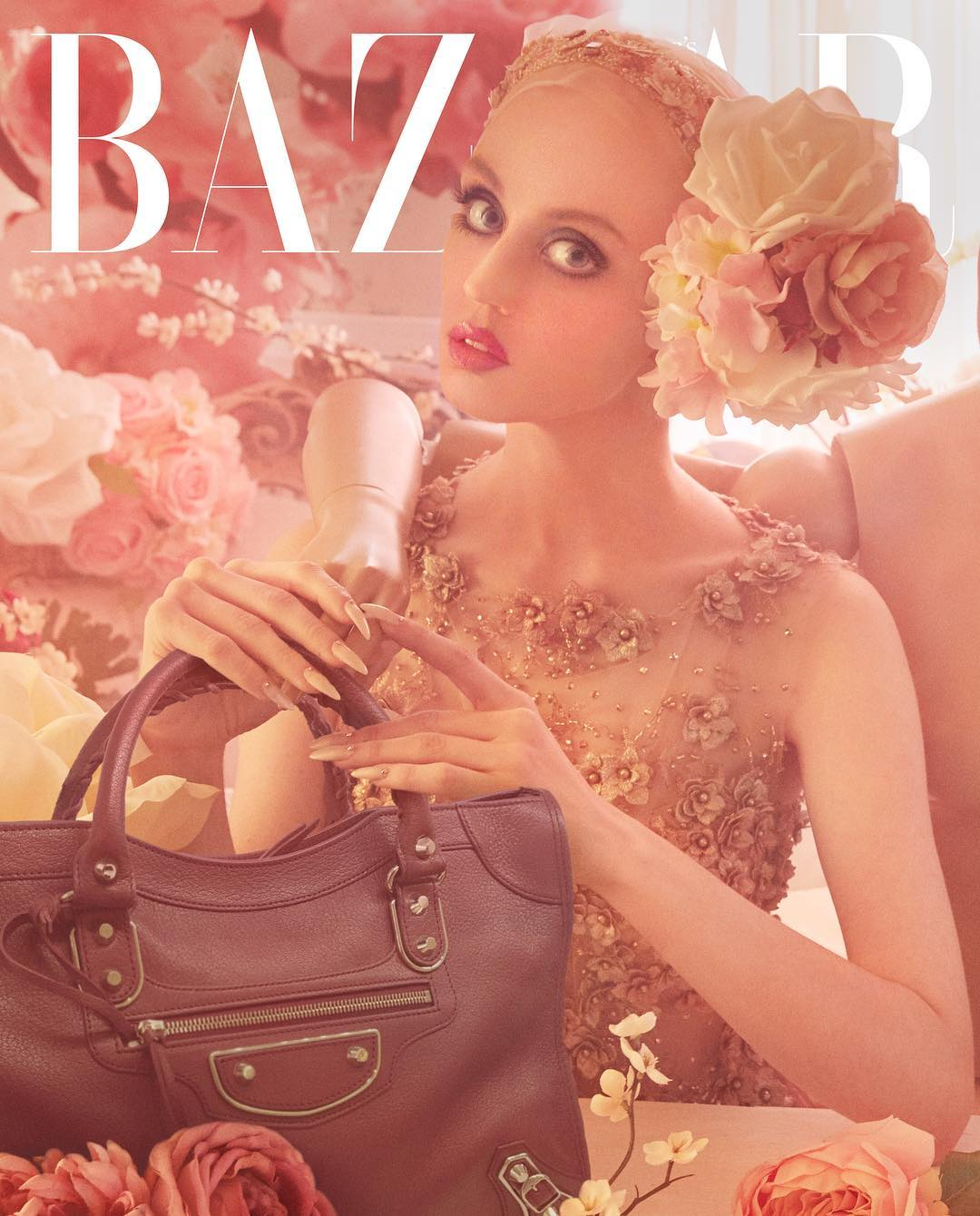Allison Antm edge of the plank: allison harvard covers harper's bazaar