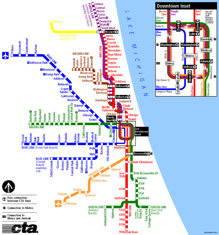 Chicago L (subway) - Maps on downtown chicago map, chicago metra train stops, chicago airport map, chicago l map, chicago south map, chicago suburbs map, city center chicago il map, chicago walmart map, chicago global map, chicago metropolitan area map, chicago neighborhood map, chicago loop map, greater chicago map, chicago on us map, chicago jazz festival map, chicago colorado map, chicago metra map, chicago street map, chicago restaurants map, chicago city bus map,