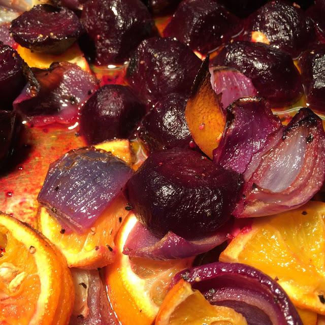 Vintertid - Rostade rödbetor med apelsin och rosmarin