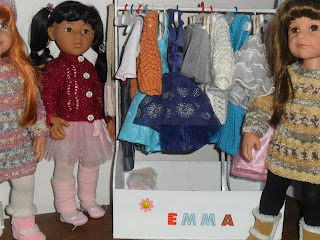 Doll clothes storage