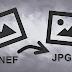تحويل الصورة من NEF إلى JPG