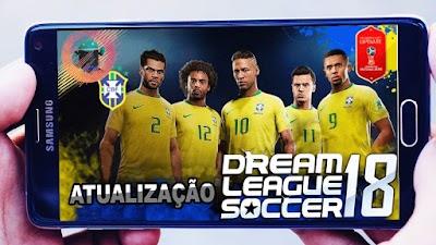 تحميل لعبة DLS 18 مود منتخب البرازيل كأس العالم روسيا 2018 للاندرويد من ميديا فاير
