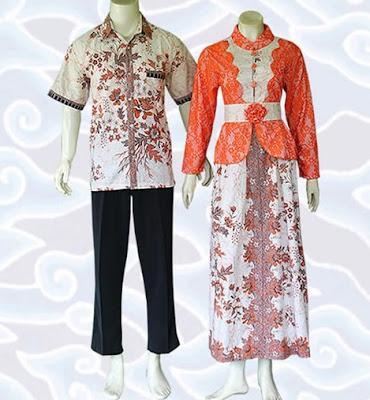 Model Gamis Batik Sarimbit lengan panjang