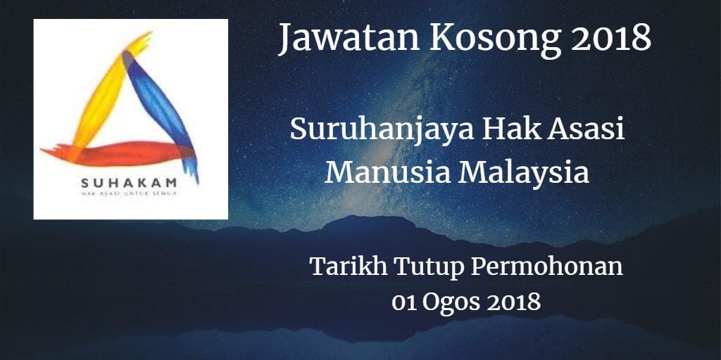 Jawatan Kosong SUHAKAM 01 Ogos 2018