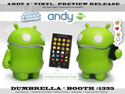 San Diego Comic-Con 2017 Debut Andy Android Vinyl Figure by Andrew Bell