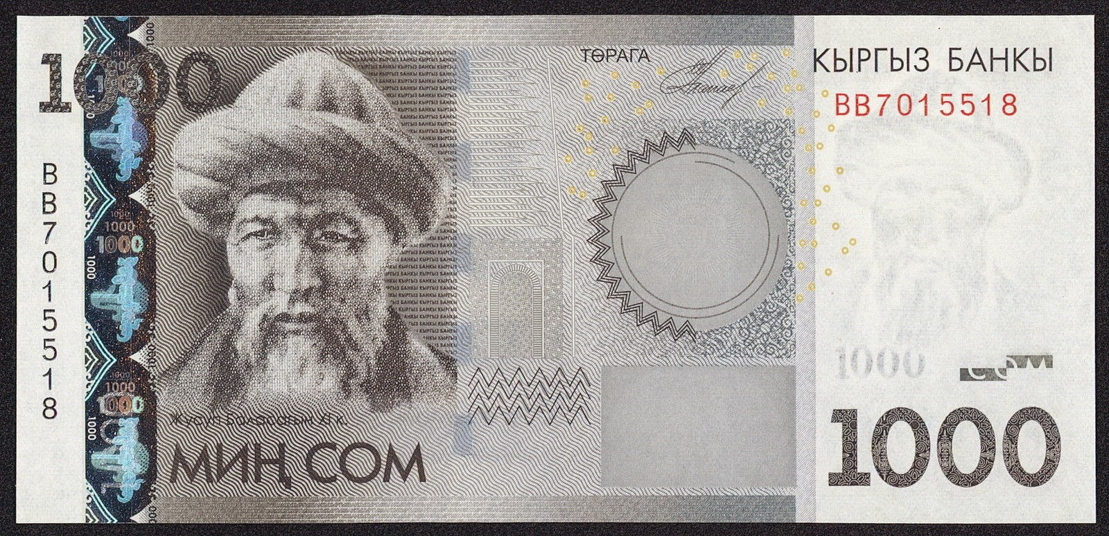 Kyrgyzstan Banknotes 1000 Som note