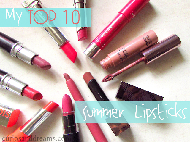 My Top 10 Summer Lipsticks, top 10 summer lipsticks, top summer lipsticks