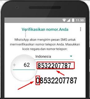 cara memasukkan nomor hp whatsapp di android