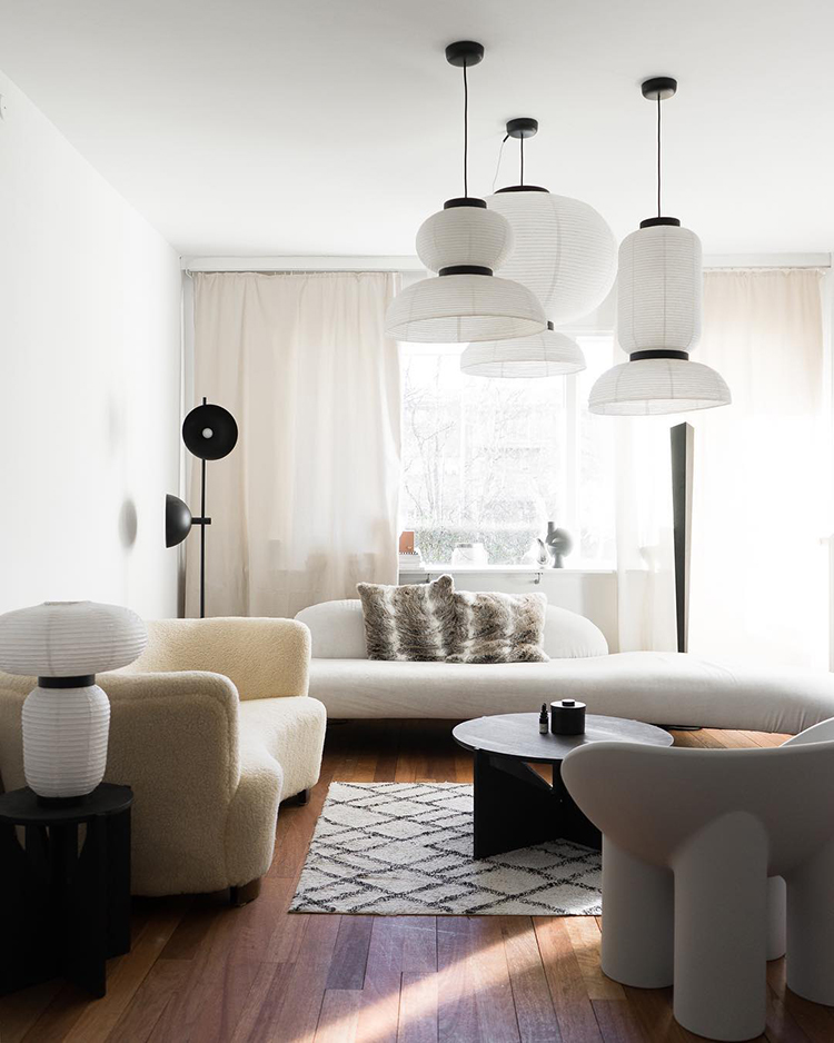 Contemporary scandinavian living room design by Mikey Estrada