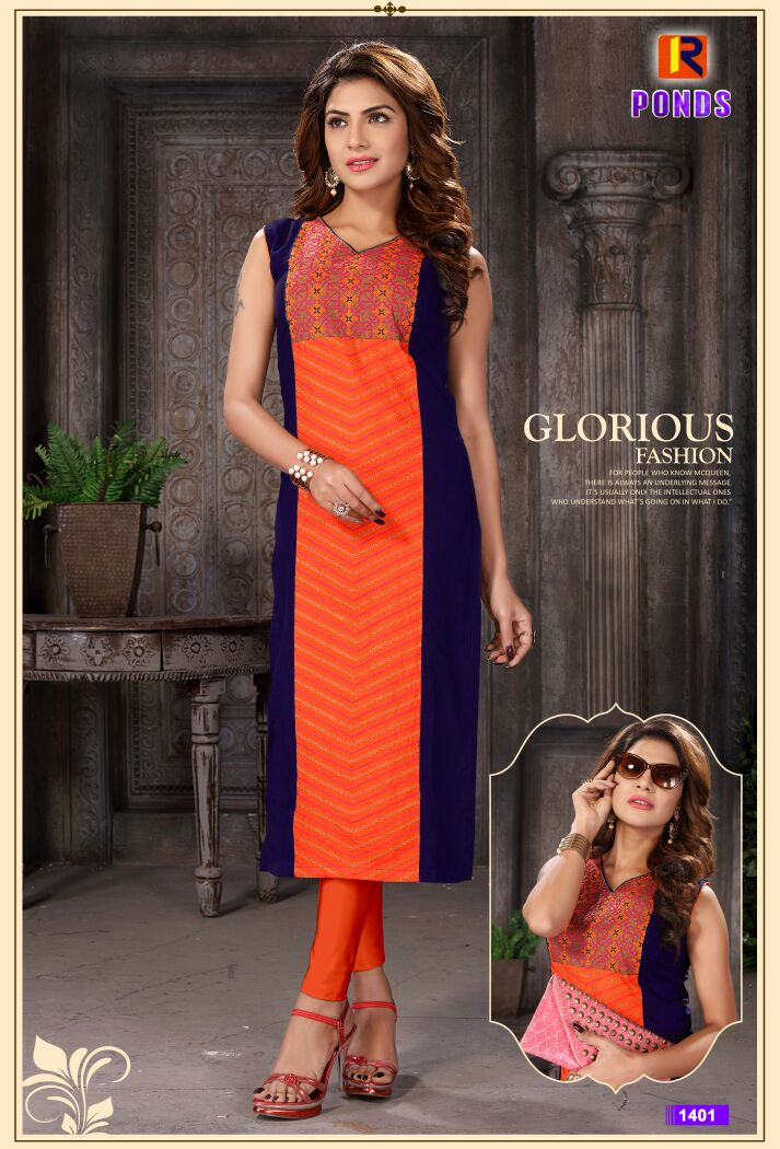 Ponds – Heavy Rayon Straight Long Kurties Buy Online