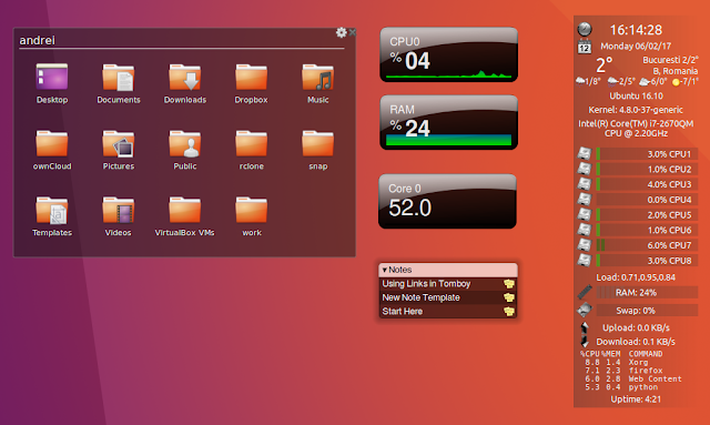 Screenlets Ubuntu 16.10