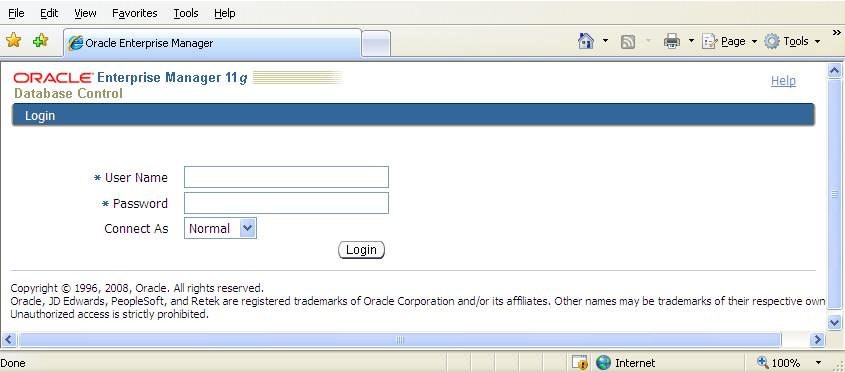 Steps to configure Oracle 11g OEM DBConsole manually for
